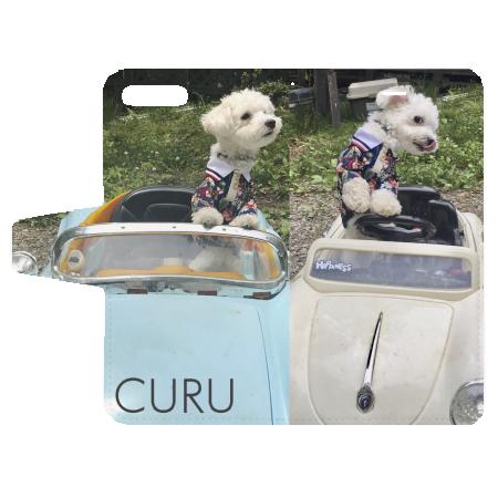 愛犬写真の手帳型オリジナルiPhoneケース