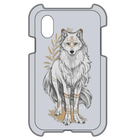 狼クールイラストのオリジナルiPhoneケース