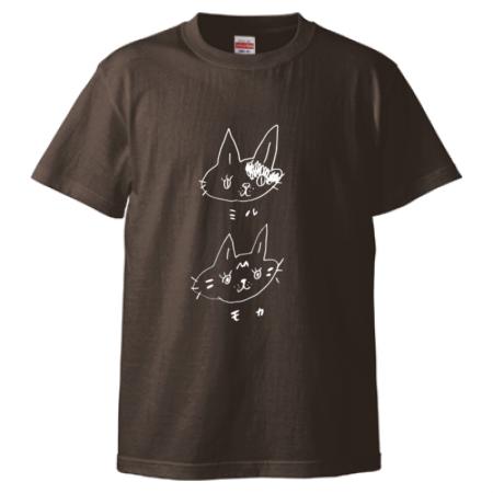 シンプル猫イラストのオリジナルTシャツ