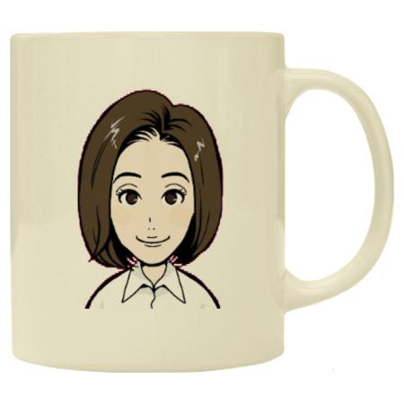 プレゼントとして、オリジナル似顔絵マグカップ