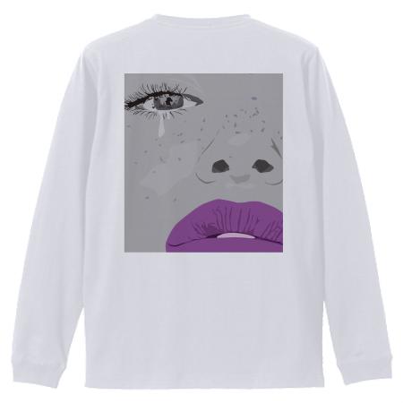 女性が描かれているお洒落イラストのオリジナル長袖Tシャツ