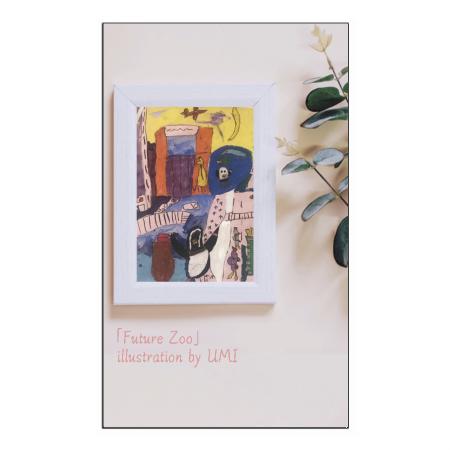 お洒落なイラストがプリントされているオリジナルカード