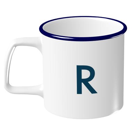 シンプルなデザインでもキュートに仕上がる♪オリジナルのラウンドリップマグカップ