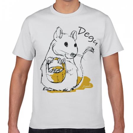 デグーのイラストのTシャツ