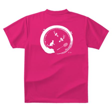 バトミントンクラブのオリジナルTシャツ