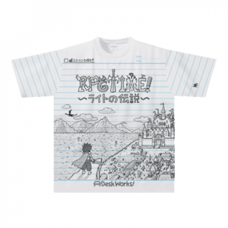 手描きRPGゲームのイラストをプリントしたオリジナルTシャツ
