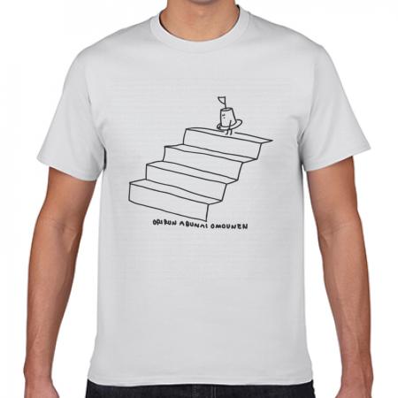 ゆるかわなイラストデザインのオリジナル白Tシャツ