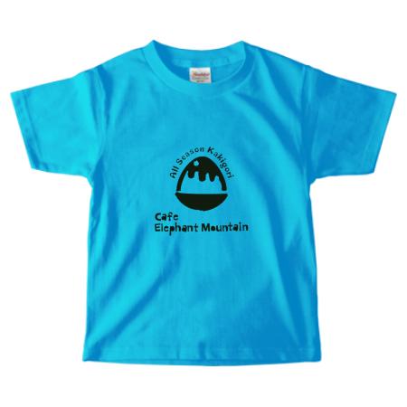かき氷カフェのオリジナルキッズTシャツ