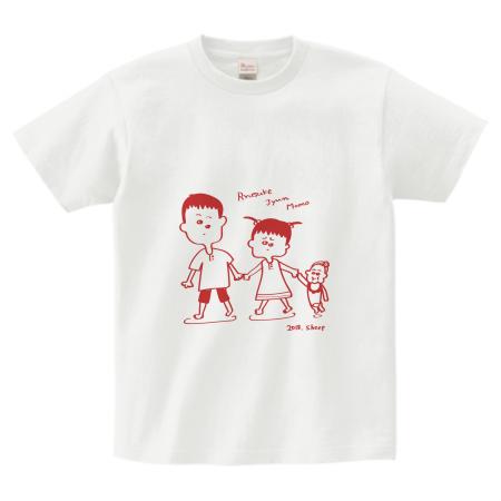 兄弟イラストのオリジナルTシャツ