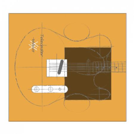 ギターがデザインされたお洒落なオリジナルミニタオル
