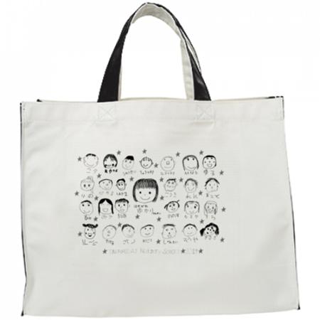 保育園の記念品に似顔絵イラストでオリジナルバッグを作成