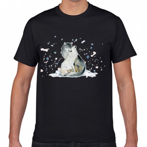 犬のオリジナルイラストのTシャツ