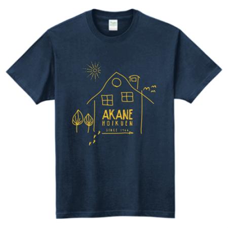ほっとするような手書きイラストの保育園オリジナルTシャツ