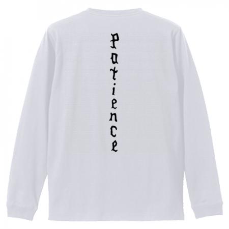 英語デザインのオリジナル長袖Tシャツ