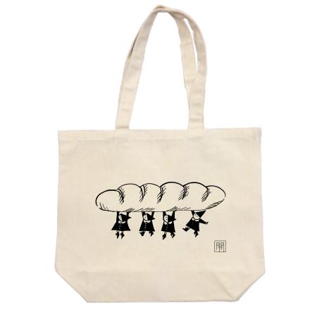 パン屋さんオリジナルのイラストトートバッグ