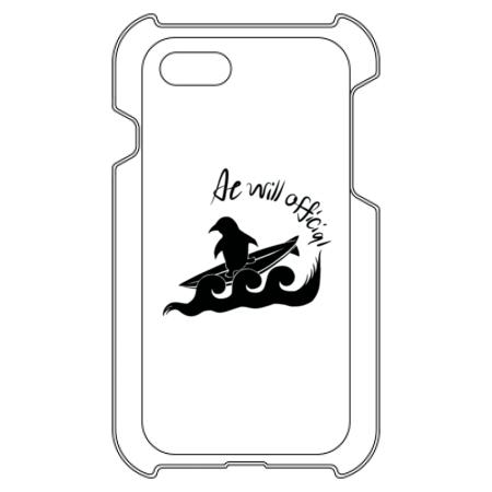 ペンギンシルエットのシンプルお洒落なオリジナルiPhoneケース