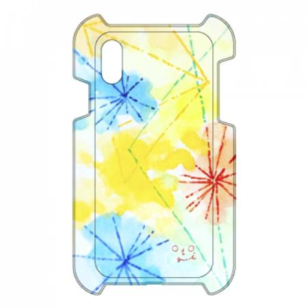 花火のような淡い色合いがステキなオリジナルiPhoneケース
