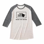 愛猫のイラストをプリントしたオリジナルのラグランTシャツ