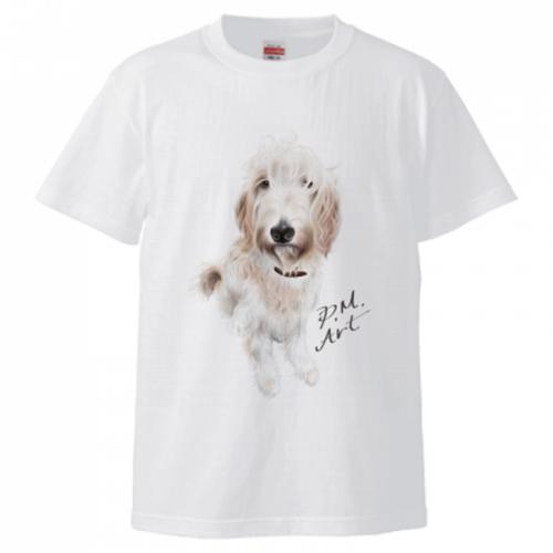 愛犬イラストのオリジナルTシャツ