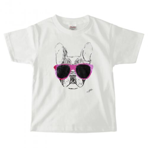 キッズTシャツに愛犬イラストをプリント