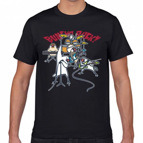 鳥がバンドでROCK! オリジナルTシャツ