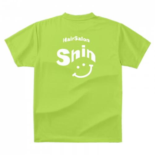 スマイルデザインをプリントしたオリジナルスタッフTシャツ