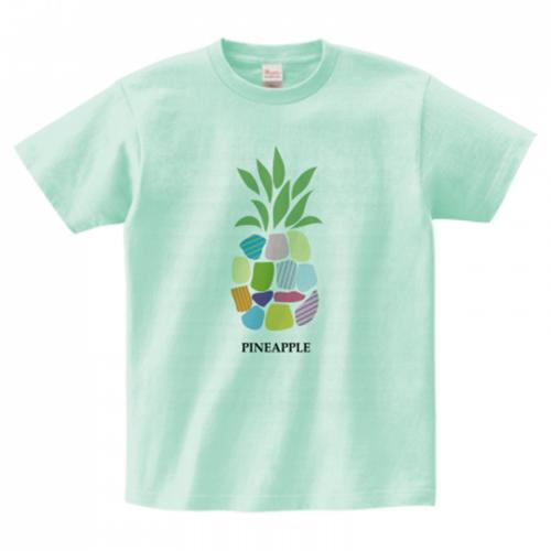 パイナップルイラストのオリジナルTシャツ