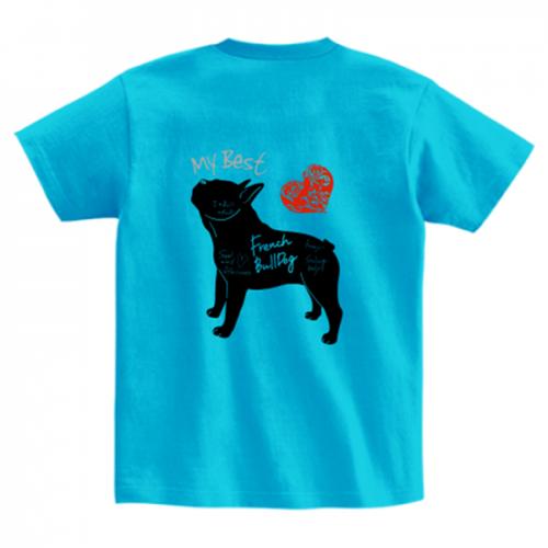 フレンチブルドッグのオリジナルTシャツ
