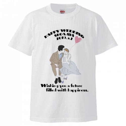 結婚記念のオリジナルTシャツ