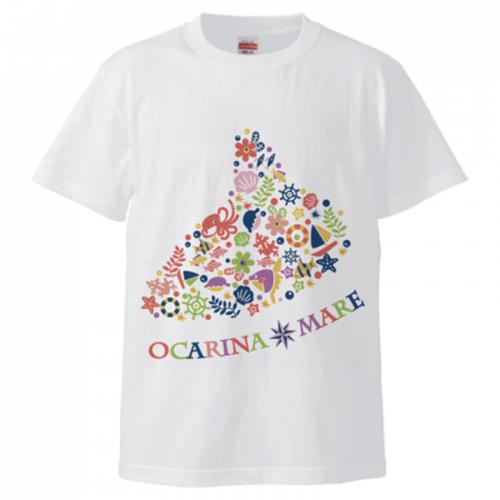 オカリナのイラストをプリントしたオリジナルTシャツ