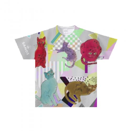 猫イラストのオリジナルキッズTシャツ