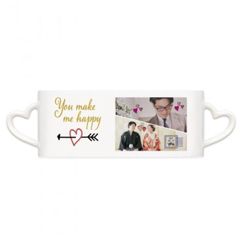 写真をプリントした結婚記念のオリジナルマグカップ