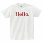 文字メッセージのプリントTシャツ