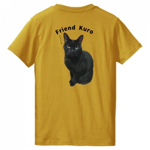 愛猫の黒猫をTシャツにしっかりプリント