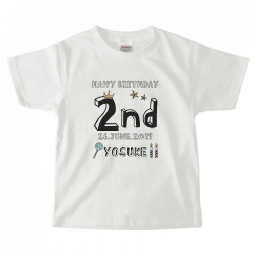 2才の誕生日祝いにオリジナルTシャツ