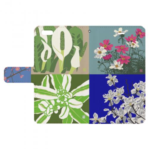 花のイラストをプリントしたiPhoneケース