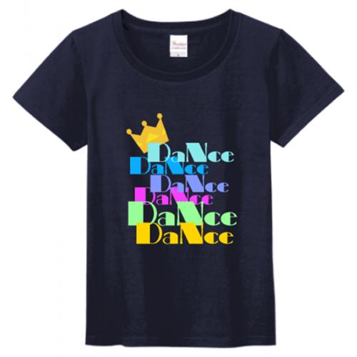 ダンスサークルのロゴプリントTシャツ