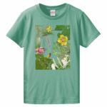 植物柄のオリジナルTシャツ