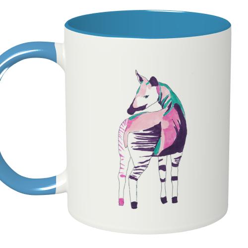 馬のイラストをプリントしたオリジナルマグカップ