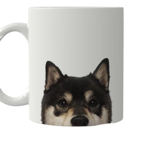 愛犬の顔写真をマグカップにプリント