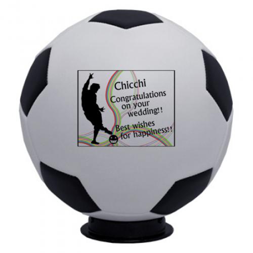 結婚祝いの記念サッカーボール