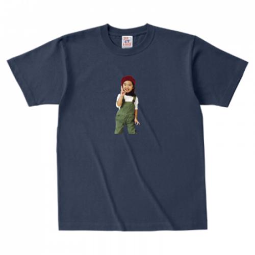 お子さんの写真をさりげなくプリントしたTシャツ