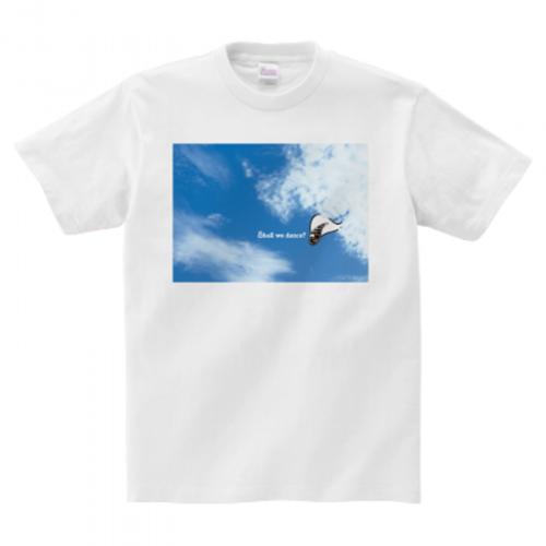 空の写真のプリントTシャツ