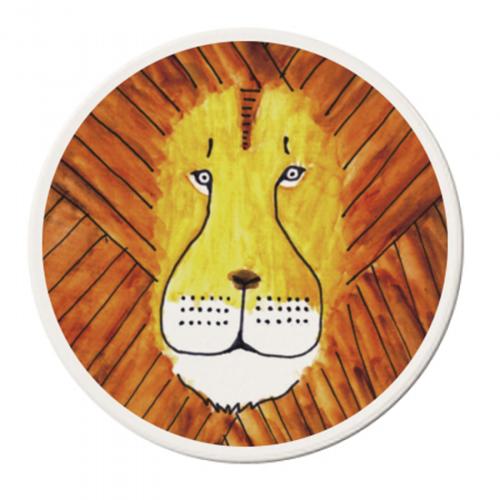 ライオンの顔がそのままオリジナルのコースターに!