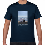 海辺の風景をプリントした親子Tシャツ