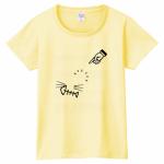 見えない猫がプリントされたオリジナルTシャツ