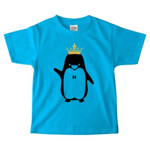 ペンギンのイラストをプリントしたキッズTシャツ
