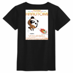 パンダのオリジナルキャラをプリントしたバレーボール練習Tシャツ