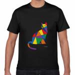 猫のイラストをプリントしたオリジナルTシャツ