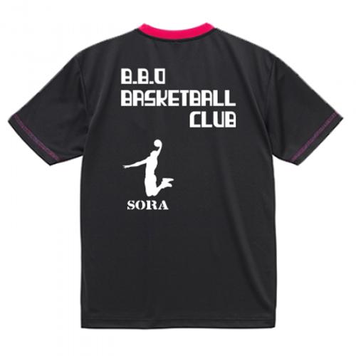 ダンクシュートのシルエットをプリント!バスケットボールチームTシャツ